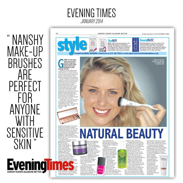 Nanshy in the EVENING TIMES