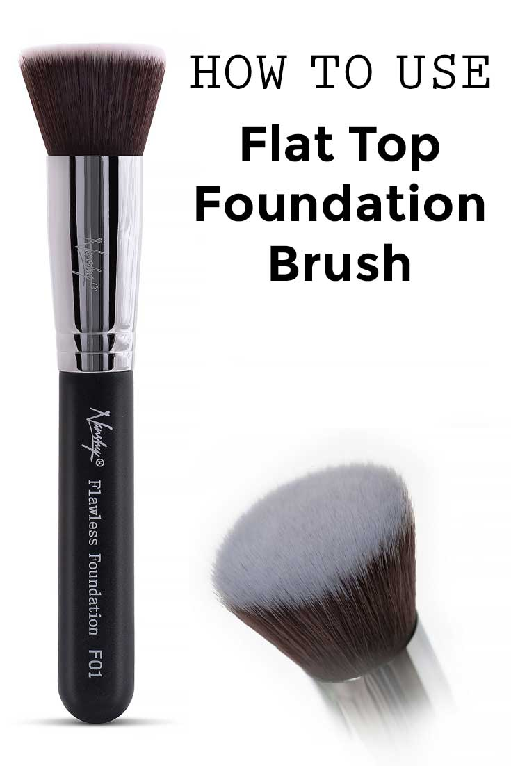 What Foundations Do Makeup Artists Use: How To Use Flat Top Foundation Brush