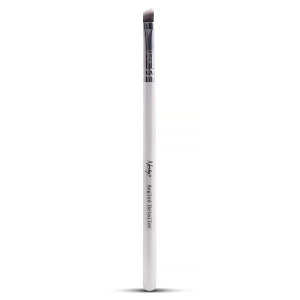 Angled Detailer Makeup Brush White