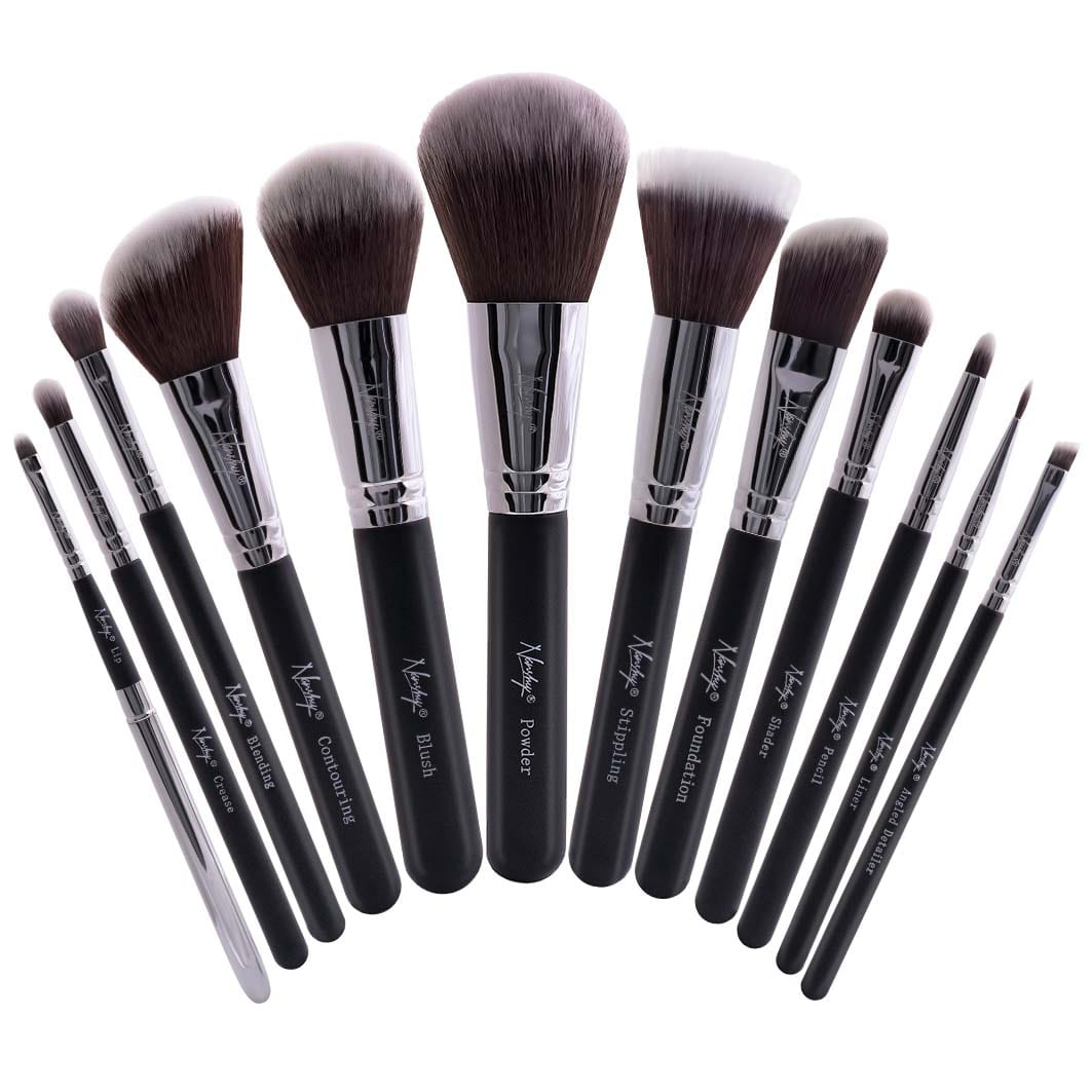 buy masterful collection onyx black make up brush set. Black Bedroom Furniture Sets. Home Design Ideas
