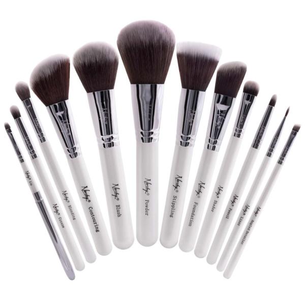 Masterful Collection Makeup Brush Set White