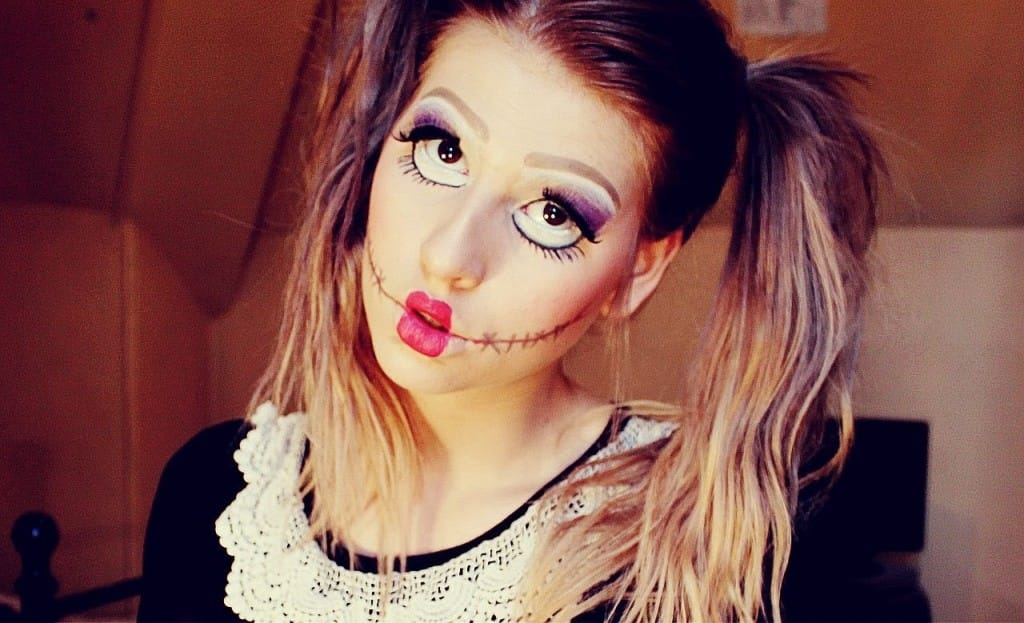 Doll makeup look