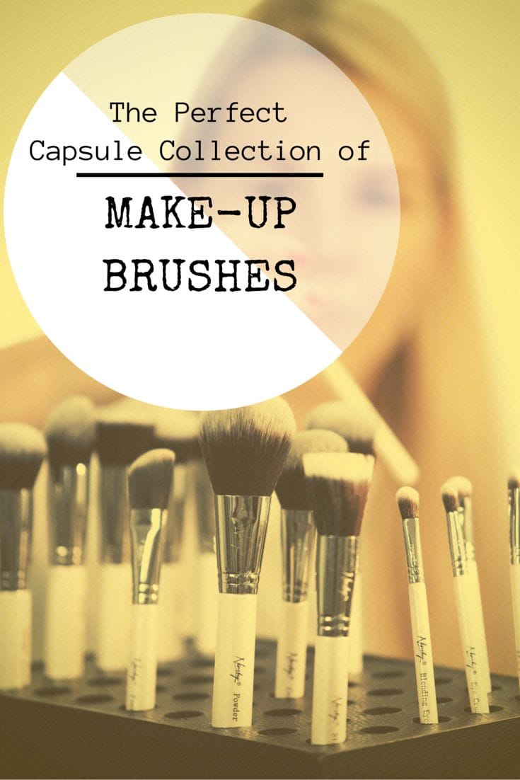 capsule collection make-up brushes