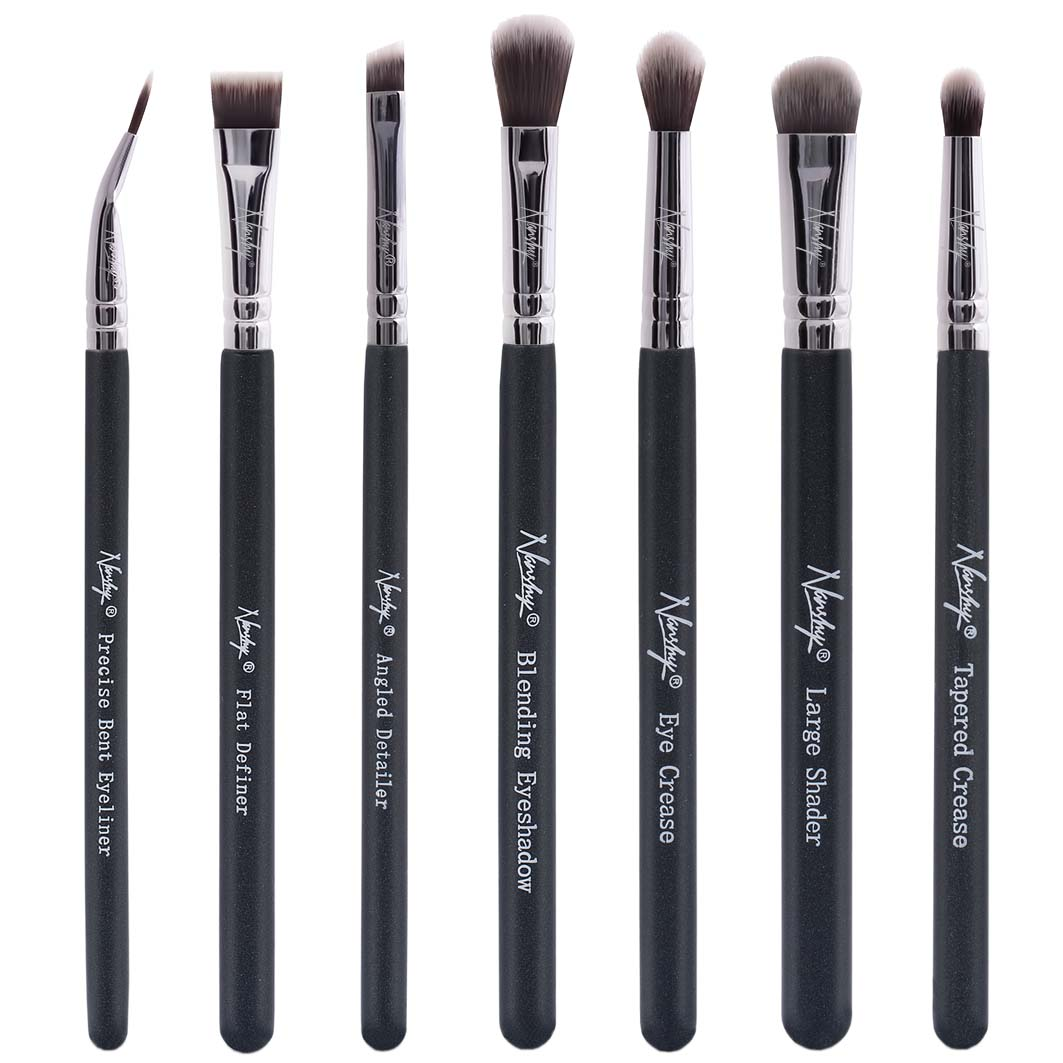 Nanshy Nanshy The Eye Brush Set (7 Makeup Brushes) - Onyx Black