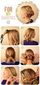 Elegant Short Hair Braided Steps