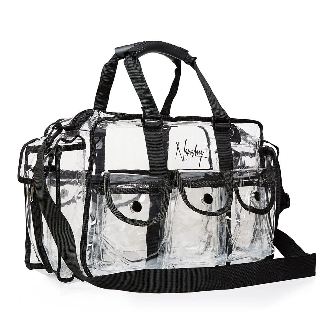 makeup kit bag from nanshy pro collection see through on