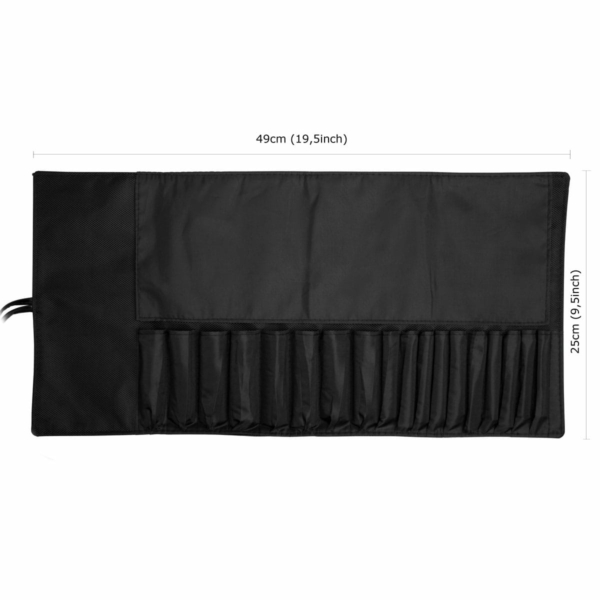 makeup brush roll size